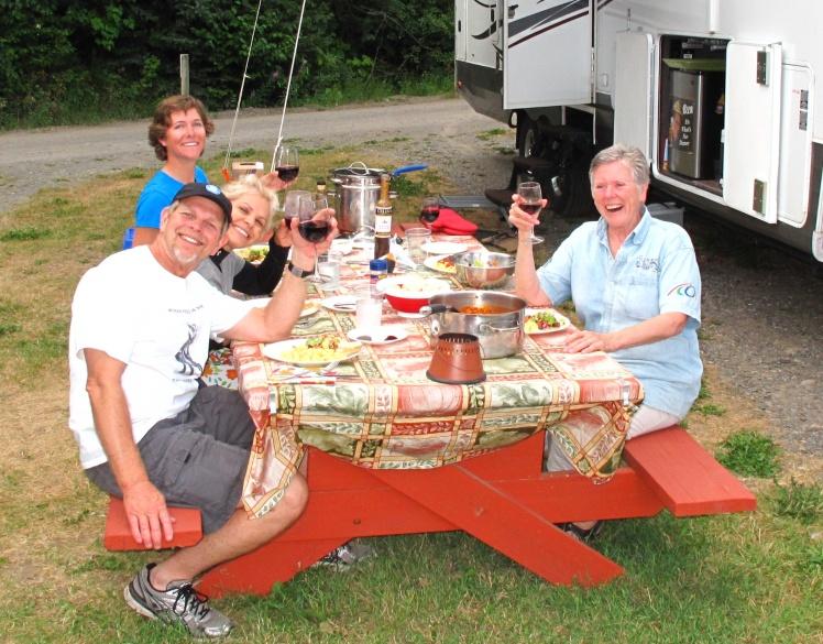 Dinner with new friends in Kitwanga