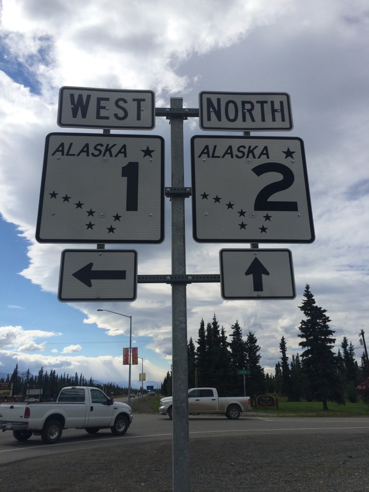 Signs for two of not many highways