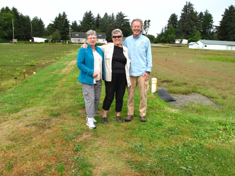 Pat, Donna and Paul at the Cranberry Museum & Research Center.