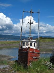 Homer Spit boat boneyard