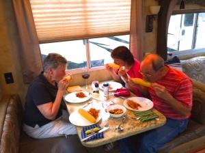 Eating Alaskan corn