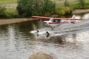 Bush Pilot in Float Plane