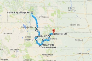 Map Colter to Denver
